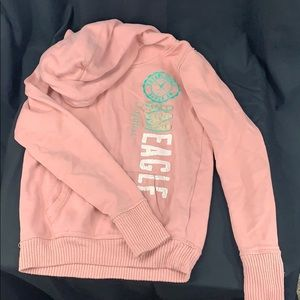 Pink American Eagle youth sweater